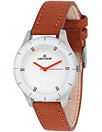 Decode Analogue White Dial Girls And Womens Watch-Lr0025 Elite White Brown