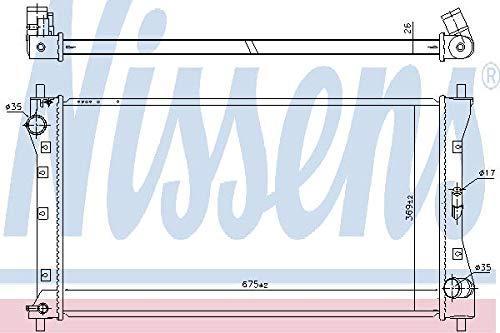 Preisvergleich Produktbild Nissens 64256 Kühler,  Motorkühlung