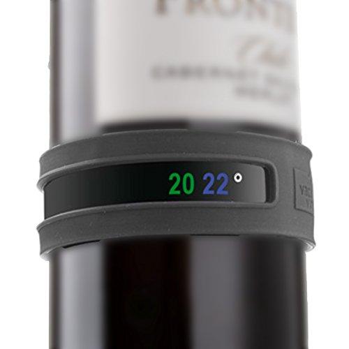 Vacu Vin 3630360 - Termómetro adaptable para botellas de vino, color gris oscuro