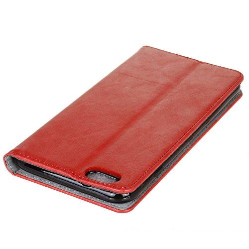 Meet de Apple iphone 6 Plus / iphone 6S Plus Case, Apple iphone 6 Plus / iphone 6S Plus (Bouquet en relief ) pour Folio Wallet flip étui en cuir / Pouch / Case / Holster / Wallet / Case, Apple iphone  rouge
