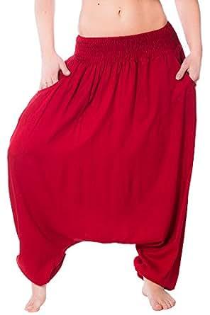 Gadzo Haremshose für mädchen Aladinhose für Damen Pumphose AladinMm 1U44 Bordo
