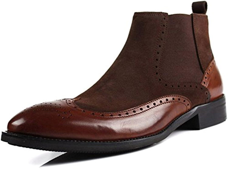 Männer  casual mode stiefel lederschuhe retro  mode für Männer. gelb 44