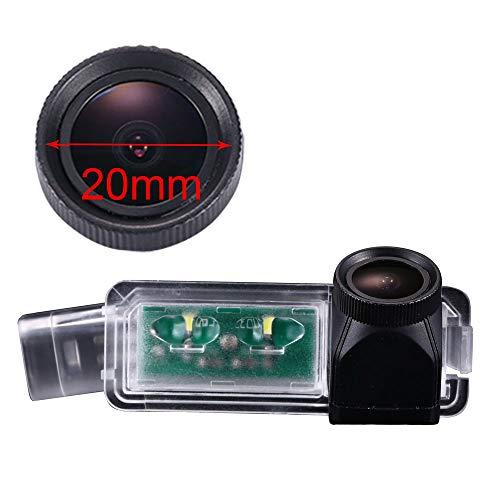 HDMEU Auto Rückfahrkamera verbesserte Einparkhilfe mit 8IR Nachtsicht 170° Weitwinkel Wasserdicht Hoche Defination (schwarz) für VW Golf 5/V/Golf 7 GOLF7/MK7/VII/PASSAT CC/Skoda