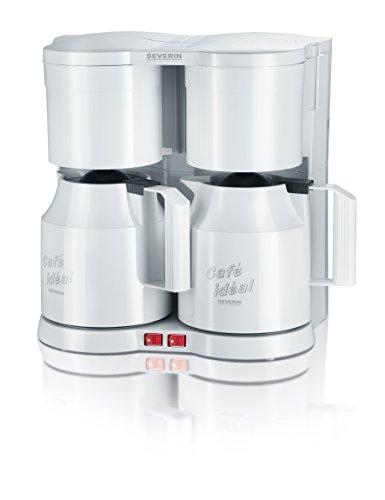 Severin KA 5827 Duo-Kaffeeautomat mit Thermokannen (1600 Watt, Edelstahl, Kunststoff) weiß
