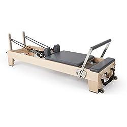 ELINA PILATES. Reformer DE Madera Elite – Máquina Pilates de Gama Alta. Diseñada por y para Profesionales de Pilates de Todo el Mundo. Primer Reformer de Madera apilable del Mercado.