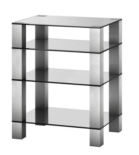 Sonorous RX 5040-C-INX Phonomöbel klarglas/aluminium silber