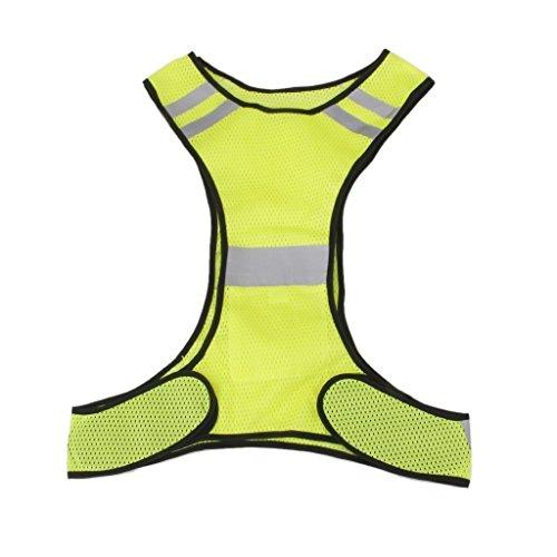 EXOH Sicherheitsweste fürs Laufen, Joggen, Radfahren, reflektierend, Gelb -