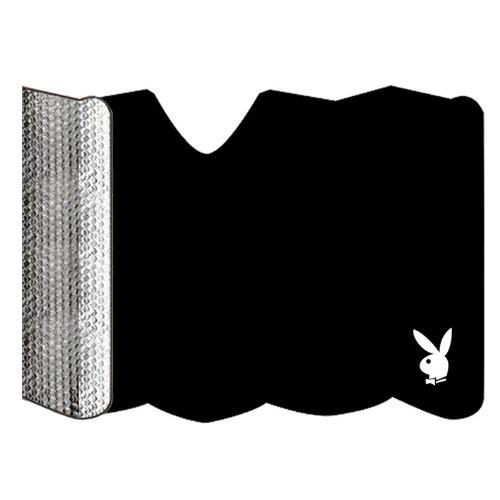 Preisvergleich Produktbild Playboy PB-810022Sonnenblende für Auto, schwarz, zusammenklappbar, Alu, Windschutzscheibenbefestigung durch Saugnapf, 60x 130cm