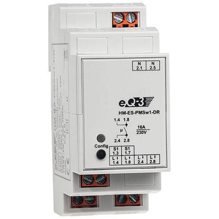ELV Homematic Komplettbausatz Hutschienen-Schaltaktor mit Leistungsmessung HM-ES-PMSw1-DR, für Smart Home/Hausautomation