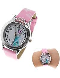 Reloj de cuarzo de Frozen en 3D para niños, regalo de cumpleaños de Elsa para niñas, de Disney