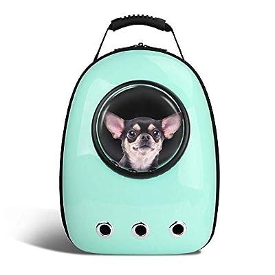 YPSMLYY Bolsa De Transporte para Mascotas Mochila Portátil para Mascotas De Viaje Diseño De Mochila para Mascotas con Cápsula Espacial Bolso Impermeable para Mascotas Pequeñas de YPSMLYY