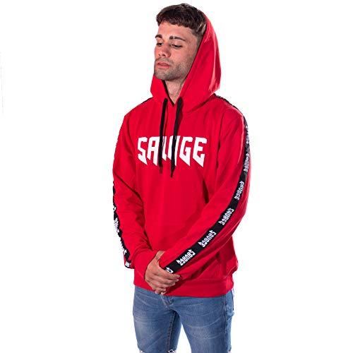 SAVAGE - TIM CARTER Sudaderas (Rojo, S)