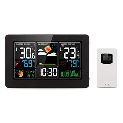 Knoijijuo Estación meteorológica inalámbrica de Interior al Aire Libre termómetro higrómetro Sensor...