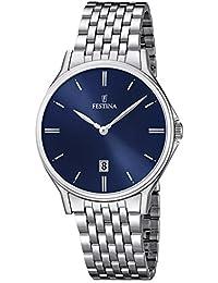 Festina - F16744-3 - Montre Homme - Quartz Analogique - Cadran Argent - Bracelet Acier Argent