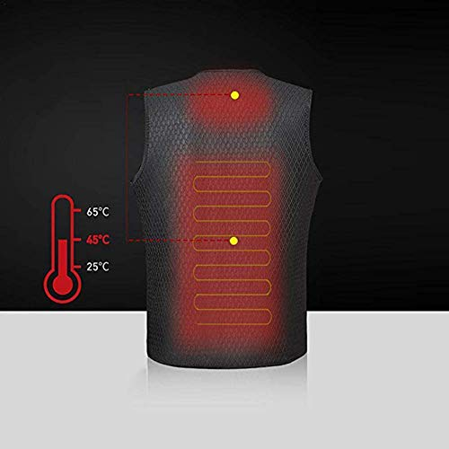 41 4ph7h4dL. SS500  - OUTANY USB Rechargeable Electric Body Warm Vest, Temperature Adjustable, Washable, Heated Clothing