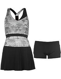 Slazenger Damen Slam Tennis Kleid Ärmellos Plissiert Rockteil Innenshorts
