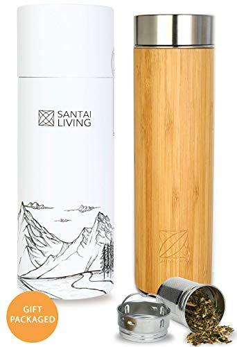 Santai Living Thermo tazza Bambù Infusore Frutta e Tè   500 ml...