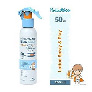 Fotoprotector ISDIN Pediatrics Lotion Spray & Play SPF 50 200 ml | Protector Solar corporal para niños | Muy hidratante | Todo tipo de pieles