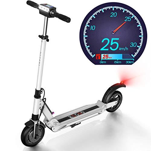 urbetter Trottinette électrique, Vitesse jusqu'à 30 km/h, 30km la Longue portée, Moteur de 350 W, Scooter électrique Pliable Mixte Adulte - Blanc