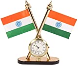 #8: Carsaaz Universal Car Dashboard Indian Flag with Clock