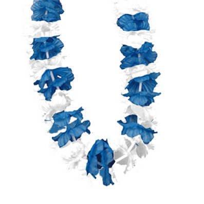 Hawaiikette Hawaii Kette Bayern blau / weiss Länge: ca. 90 cm [Spielzeug]