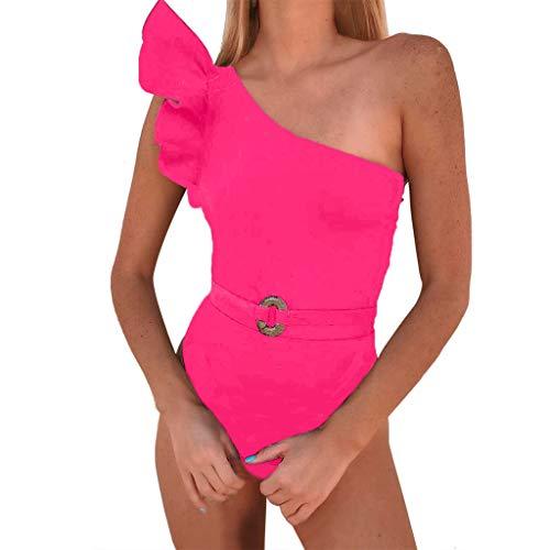 d17965c8493f4 Mosstars Costumi da Bagno Donna Scollo a V Balze Sexy Costumi Interi Donna  Nuoto Bikini Set maternità Senza Spalline Costume da Bagno Donna Push-up ...