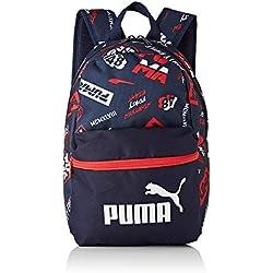 Puma Phase Small Backpack - Mochilla, Unisex niños, Peacoat-AOP, OSFA