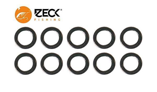 10 Verbindungsringe f/ür Hauptschnur /& Vorfach Ringe zum Verbinden der Angelschnur mit dem Raubfischvorfach Zeck Solid Ring