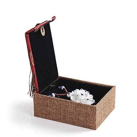 Lin qualité satin Collier pendentif bracelets/affaire de bijoux bracelets bijoux de (Sintetico Cassa Del Cuoio)