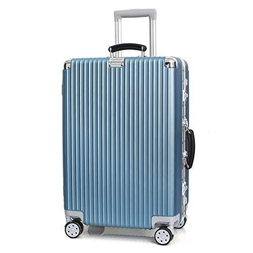 Koffer Trolley ABS Gepäck Koffer wasserdicht Leichte, langlebige Reisetasche mit Zahlenschloss und 4 Spinner-Rädern, für Reisen Männer Frauen 20/24 Zoll-blue-20inches - Rv Spinner