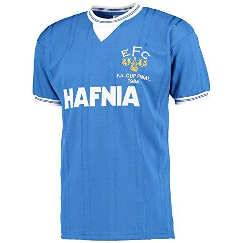 Score Draw Official Retro- Maillot d'Everton de la Finale de la Coupe d'Angleterre de 1984, pour Hommes