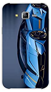 Crazy Beta Lemborghini sports car blue coloured 3D design Printed mobile back cover case for Samsung Galaxy J7