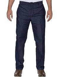 Carabou Hombres Inteligentes Pantalones De Rugby Con Cintura Elástica con Draw Cord tamaños: cintura 81