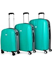 JASLEN - Maletas de Viaje Duras Rígidas 4 Ruedas Trolley ABS. Neceser. Cómodas Resistentes y Ligeras. Pequeña Low Cost, Mediana y Grande XL. Candado TSA