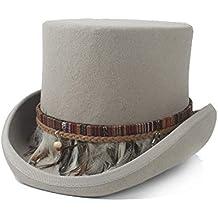 Haoweiwei Caballero Sombrero de Copa Steampunk Sombrero de Copa Mujeres  Hombres Loco Sombrero Alto Color Trenzado b9383141ba0