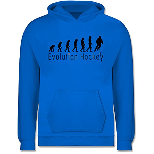 Shirtracer Evolution Kind - Evolution Hockey - 9-11 Jahre (140) - Himmelblau - JH001K - Kinder Hoodie (Jersey Hockey Evolution)