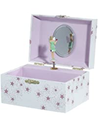 "Fairy Playing Brahms ""Lullaby"" Jewellery Box, Model 22007, by Musicboxworld"