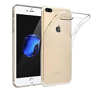 [Funziona la ricarica wireless] EasyAcc Apple iPhone 8 Plus / iPhone 7 Plus Custodia, Morbido TPU Case Cristallo Trasparente Ultra Sottile Anti Slip Case Copertura Protezione antiurto per iPhone 8 Plus / iPhone 7 Plus