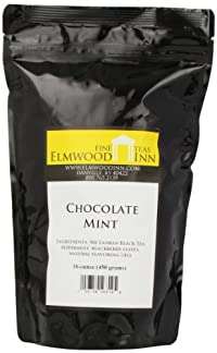 Elmwood Inn Fine Teas, Chocolate Mint Black Tea, 16-Ounce Pouch