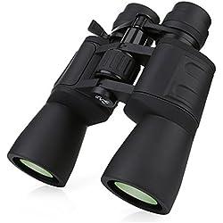 BORWOLF 10-180X90 - Prismáticos de gran alcance HD con zoom de largo alcance 10-36 veces,, gran angular