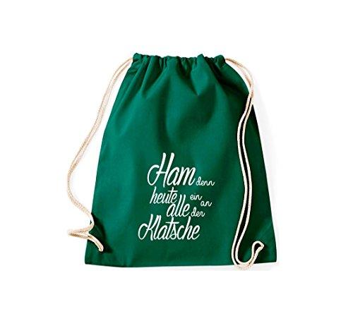 Shirtstown Gymsac iconica motto: ham perché oggi tutti ein sulla Clap - bianco, 37 cm x 46 cm Gruen