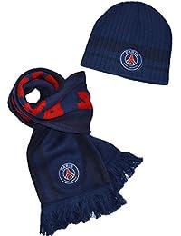 Coffret Echarpe + Bonnet PSG - collection officielle PARIS SAINT GERMAIN - Taille unique Adulte et grand ado