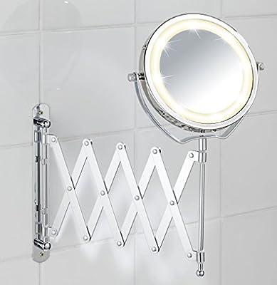 Wenko 3656380100 Led Kosmetik-Wandspiegel Brolo ausziehbar Durchmesser 15 cm von Wenko auf Spiegel Online Shop
