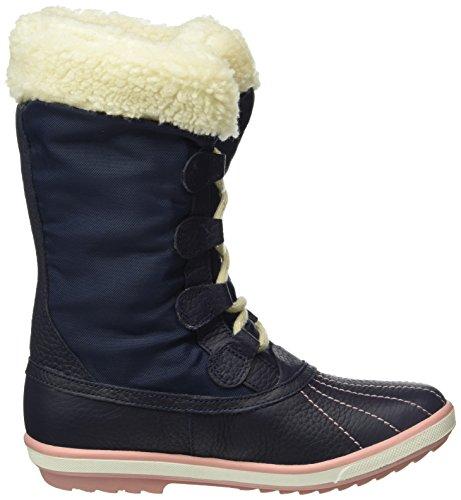 Clarks FabYou GTX Jnr, Bottes de neige de hauteur moyenne, doublure chaude fille Bleu (Navy Leather)