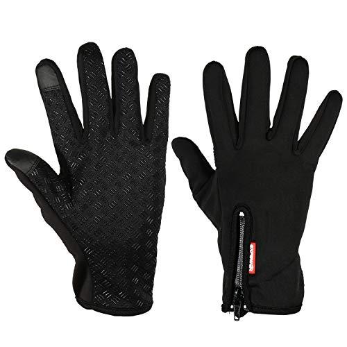 EXTSUD Touchscreen Handschuhe Winddicht Outdoor Laufhandschuhe Radfahren Jagd Sports Handschuhe Fahrradhandschuhe mit Touchscreen Funktion für Smartphones,Perfekt für Herbst Oder Frühling