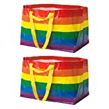 Ikea KVANTING (FRAKTA) große 71 L Pride Rainbow Wiederverwendbare Tragetaschen, 2er-Set, Mehrfarbig
