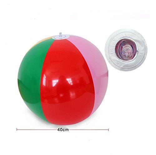(Ocamo 40cm PVC Aufblasbare Beach Balls Rainbow Color Balls für Pool, Geburtstag, und Sommer Parteien)