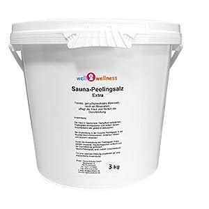 Sauna Peelingsalz Extra/Saunasalz fein 3,0 kg – 100% naturrein aus dem Toten Meer