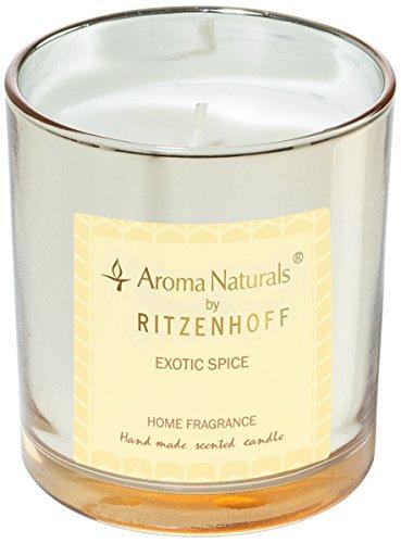 Scheda dettagliata Ritzenhoff Aroma Naturals Luxury Candela profumata, Nero/Giallo, 7 x 7 x 8 cm