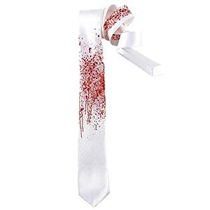 WIDMANN?Corbata insanguinata Unisex-Adult, blanco/rojo, talla única, vd-wdm29922